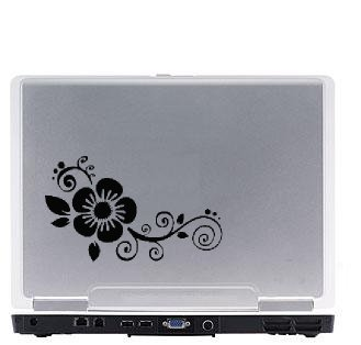 Flower Laptop Vinyl Decal