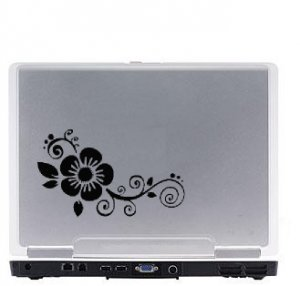 Flower Laptop Vinyl Decal