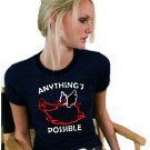 Anything's Possible Flying Pig  T-Shirt NEW