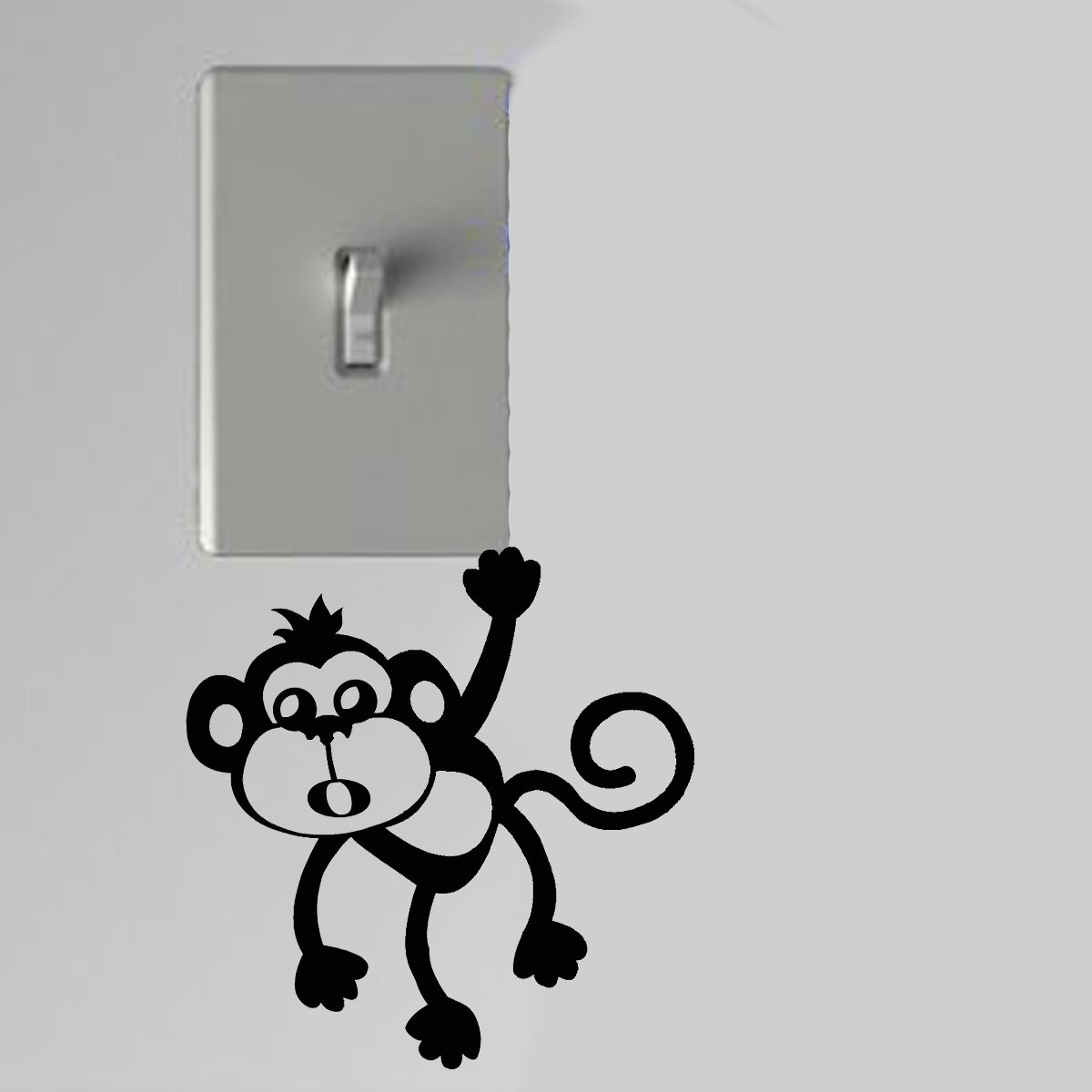 Monkey With Mouth Open Light Switch Wall Art Vinyl Decal