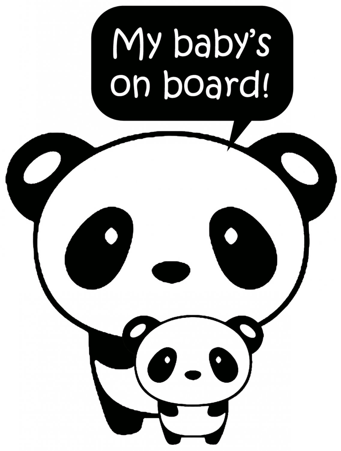 Baby on Board Panda Vinyl Decal
