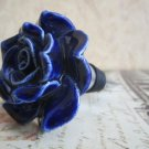 Wine Bottle Stopper - Vintage Blue Rose Flower Stopper