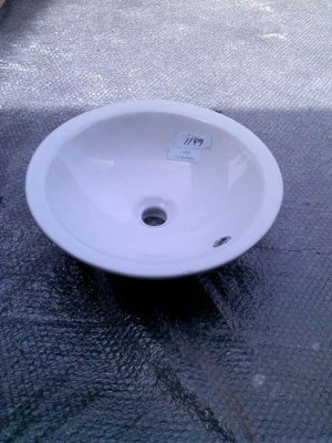 Xylem Round Semi-Recessed White Vessel Sink CSR169RD