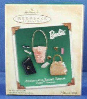 Barbie Miniatures Ornaments Set of 9