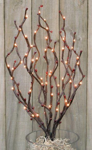 electric berry twig lights. Black Bedroom Furniture Sets. Home Design Ideas