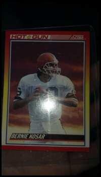 Bernie Kosar Hot Gun INSERT card 1990