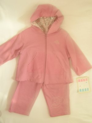 Pink Baby Sweat Suit Set