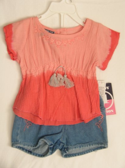 Shirt & Jean Shorts Set