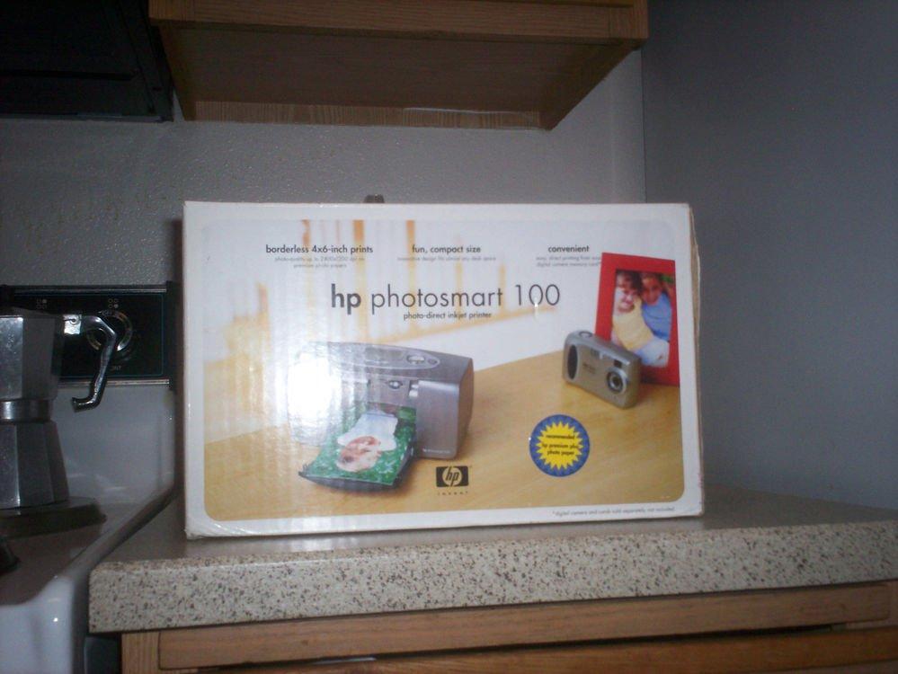 $0 USA Shipping With HP Photosmart 100 2400x1200 DPI & 4x6 Photos Inkjet Printer