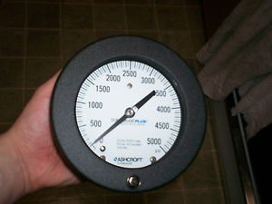 $0 Shipping With Ashcroft 4 1/2 Inch 45-1377-SS-02B-5000 PSI + Performance Gauge