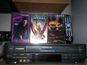 Refurbished Panasonic PV-V4361 4 DynAmorphous Metal Heads VCR With 4-1 Remote & 3 Movies
