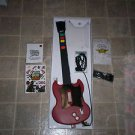 $0-Ship W/PS2 Wired Gibson Style SG Guitar Hero II Red Octain Guitar W/Strap/Box