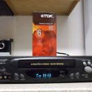 Refurbished Sharp VC-H810U 4 19U Heads S-VCR With Rapid Rewind & Menu Set Button