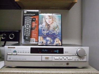 Refurb. Panasonic SH-AT65 1000W Receiver 5 DVD Player Only W/ 5.1/4-1 Remote/DVD
