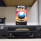 $0-Ship W/ Refurbished JVC HR-VR400U Pro-Cision 4 19U Head S-VHS VCR & TDK Tape