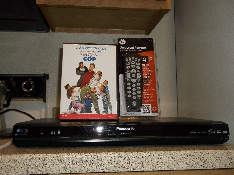 Refurbished Panasonic DMP-BD605 3D Blu-Ray Player W/Internet/ 4-1 Remote & Movie