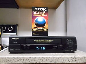 /Refurbished Sharp VC-H993 4 19U Heads S-VCR W/Rapid Rewind/ Menu Set & VHS Tape