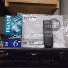 $0-Ship W/ Refurbished Sharp VC-A323U Mid-Drive 4 19U Head VHS VCR & VHS Tape