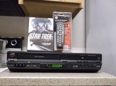 Refurbished  JVC HR-XVC26U VCR/DVD Combo HIFI Player W/ 4-1 Remote & 1 DVD Movie