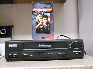 $0-Ship W/ Refurbished Sylvania 6246VB VCR W/ Menu/Tape Speed Button & VHS Movie