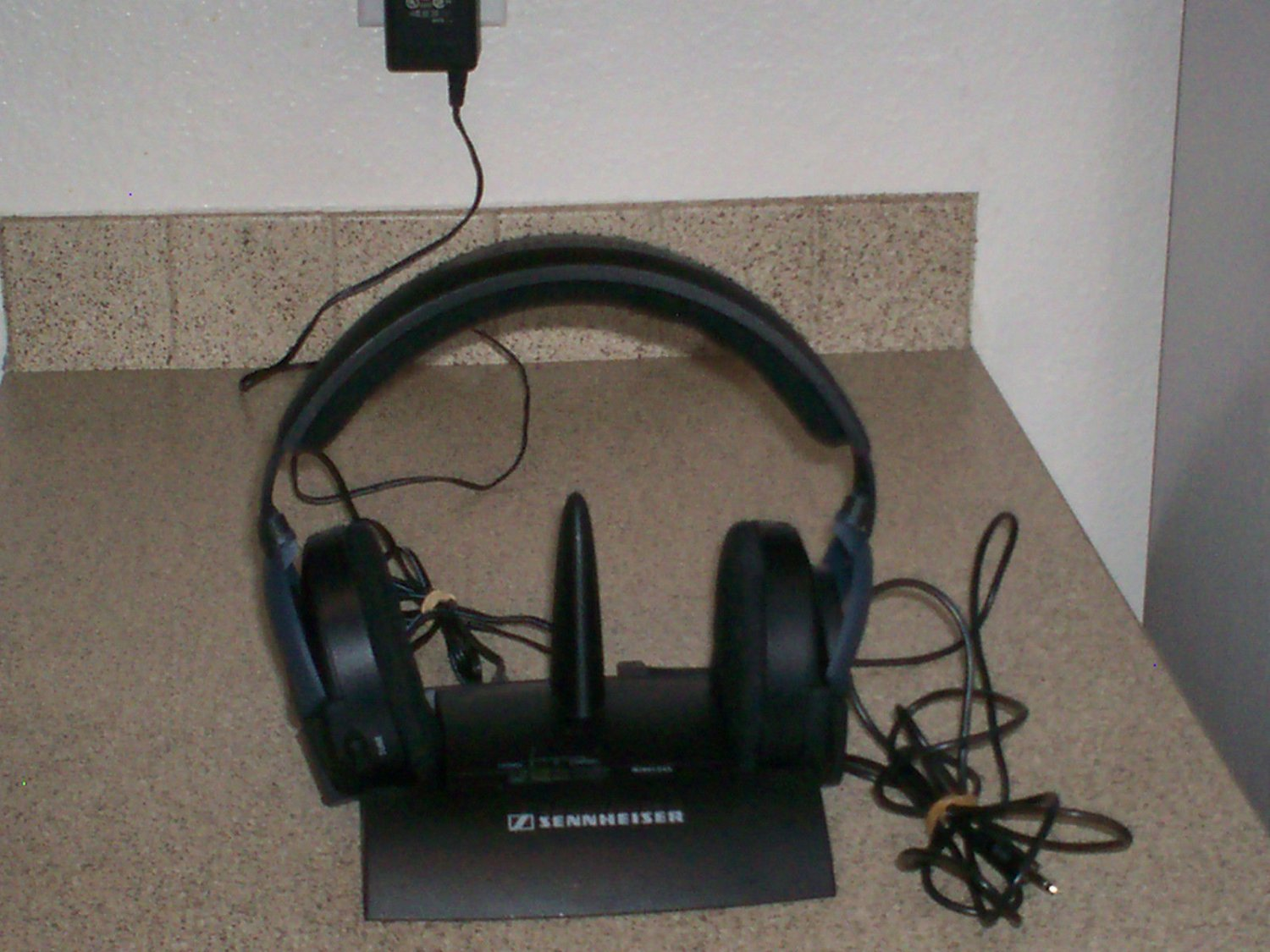 $0 Shipping W/Refurbished Sennheiser HDR 45 Headband Wireless Headphones - Black
