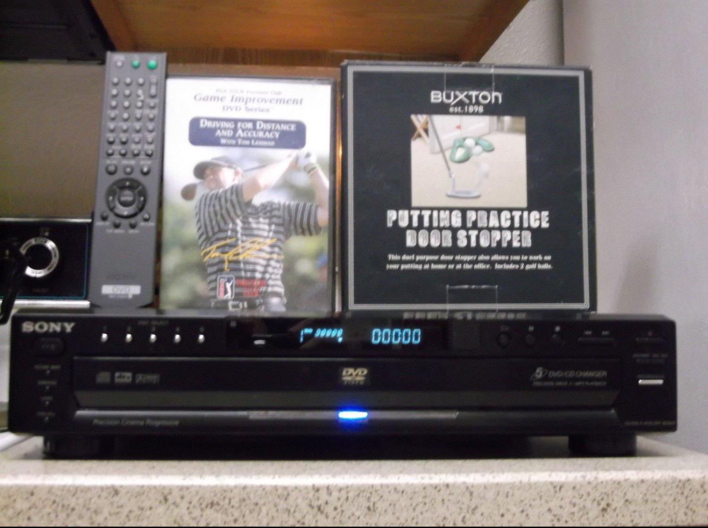Refurbihsed Sony DVP-NC655P 5 CD DVD Player With OEM Remote Golf DVD & Putt Stop