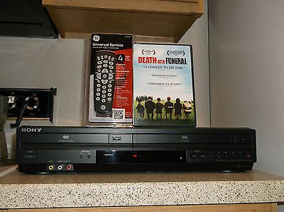 $0-Ship W/Refurbished Sony SLV-D281P VCR/DVD Player W/ 4-1 Remote & 1 DVD Movie