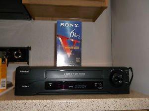 $0 Ship W/Refurbished Admiral JSJ 20412 4 Head HiFi VCR W/Menu Button & VHS Tape