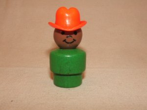 Wood Bodied Green AA Cowboy/Farmer