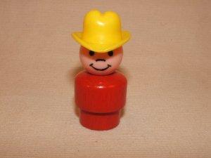 Wood Bodied Red Cowboy/Farmer