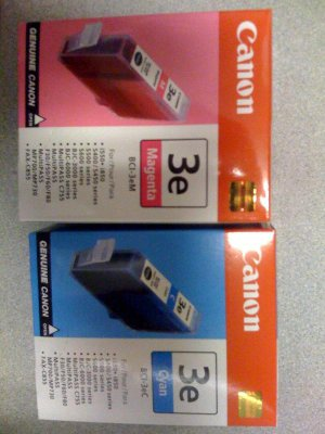 Canon New ink cartridges