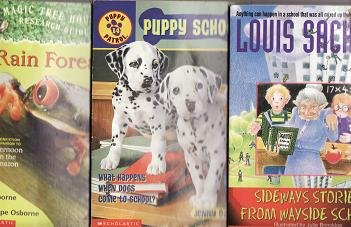 Three Book Lot-Sideways Stories From Wayside School-Rain Forests-Puppy School