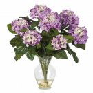 Hydrangea Liquid Illusion Silk Arrangement Purple