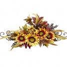Sunflower Swag w/Metal Frame