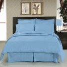 Solid Blue 8-Pc Bedding Set Super Soft Microfiber Sheets+Duvet+Alternative Full or Queen