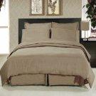 Solid Taupe 8-Pc Bedding Set Super Soft Microfiber Sheets+Duvet+Alternative King