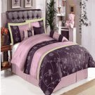 Grand Park Purple 11-Piece Bed in a Bag Queen