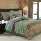 Pacifica Coffee/Sage 7-Piece comforter set Queen