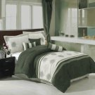 Grace Sage 7-Piece Micro suede comforter set Queen