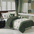 Grace Sage 7-Piece Micro suede comforter set Queen