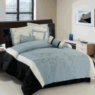 Santa Fe Gray 7-Piece comforter set Queen