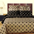 Taupe & Black Bloomingdale 9PC Egyptian cotton Bed in a bag Full