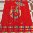 """""""Time For Drink"""" 40x70 Egyptian Cotton Beach Towel"""