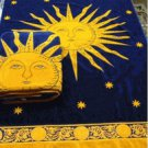 """Navy Sun"" 40x70 Egyptian Cotton Beach Towel"