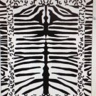 """Zebra Print"" 40x70 100% Egyptian Cotton Beach Towel"