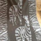 """Zebra"" 40x70 Egyptian Cotton Beach Towel"