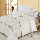 Anna Egyptian cotton Embroidered Duvet Cover Set Full/Queen