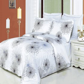 Tiffany Printed 4 pc Duvet Set Egyptian Cotton Full/Queen