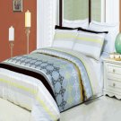 South Gate Printed 4 pc Duvet Set Egyptian Cotton Full/Queen