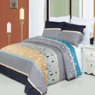 Manhattan Printed 8 pc Duvet Set Egyptian Cotton California King